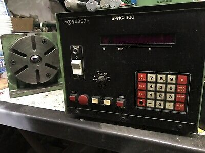 Yuasa Spnc-300 Controller Spdx-6 Programmable Indexer Rotary Table