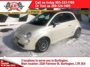 2014 Fiat 500c Lounge, Automatic, Leather, Convertible, 88, 000k