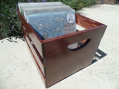 Hand Built Record LP Vinyl Crate Storage Solid Wood - Red Mahogany