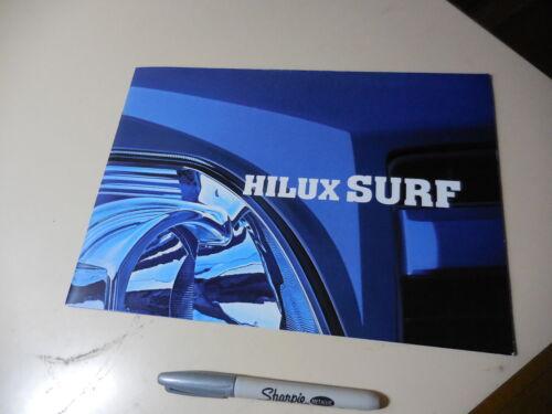 TOYOTA HILUX SURF Japanese Brochure 2002/10 215/210 5VZ-FE 3RZ-FE 1KD-FTV