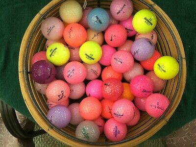 50 MINT BEAUTIFULLY COLORED LADIES MIX GOLF BALLS CALLAWAY BRIDGESTONE NIKE ETC, used for sale  Shipping to Canada