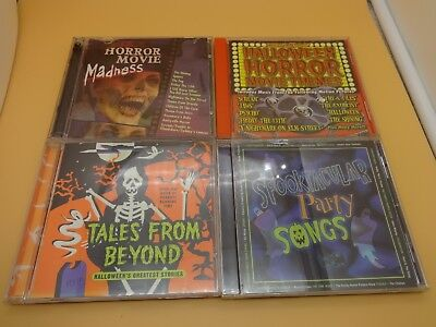 4 diff. CD's Halloween Scary Music from Movies, TV and Rock Bands - - Scary Halloween Rock Music