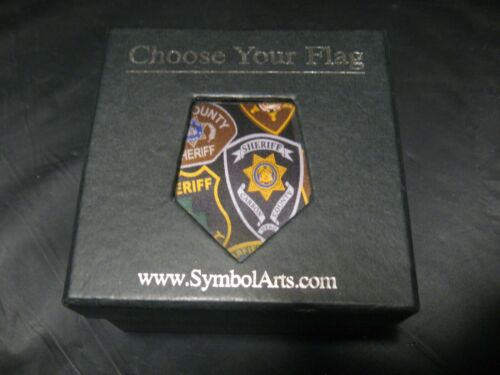"Symbol Arts ""Utah Sheriff Patches"" Police 100% Silk Neck Tie NEW!"