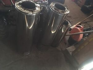 Double insulated chimney for wood stove