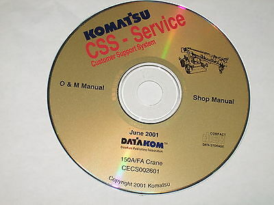 Komatsu 150a 150fa Crane Service Shop Repair Maintenance Manual