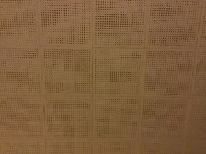 Wanted 20ceiling tiles, 12in x12in SQ with small holes,