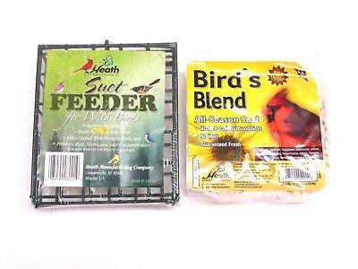 NEW! HEATH OUTDOOR PRODUCTS SUET FEEDER FOR WILD BIRDS & ALL-SEASON SUET