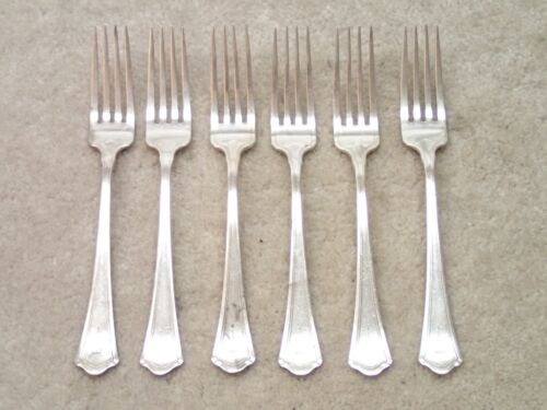 Wallace Vintage Sterling Silver Fork Set Lot of 6 Mono T User Items RW&S