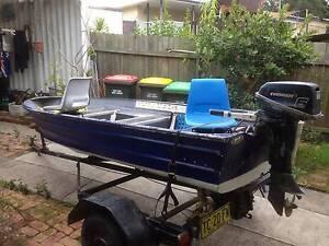 13ft tinny 6hp mercury registered trailer Coffs Harbour Coffs Harbour City Preview