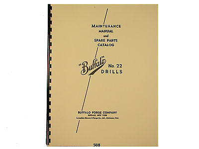 Buffalo Forge No. 22 Drill Press Maintenance And Parts List Manual 508