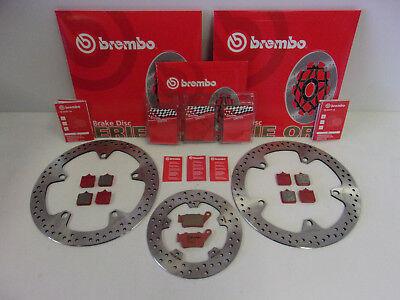 Brembo Bremsscheiben Bremse vorne + hinten + Bremsbeläge BMW S 1000 R RR + ABS