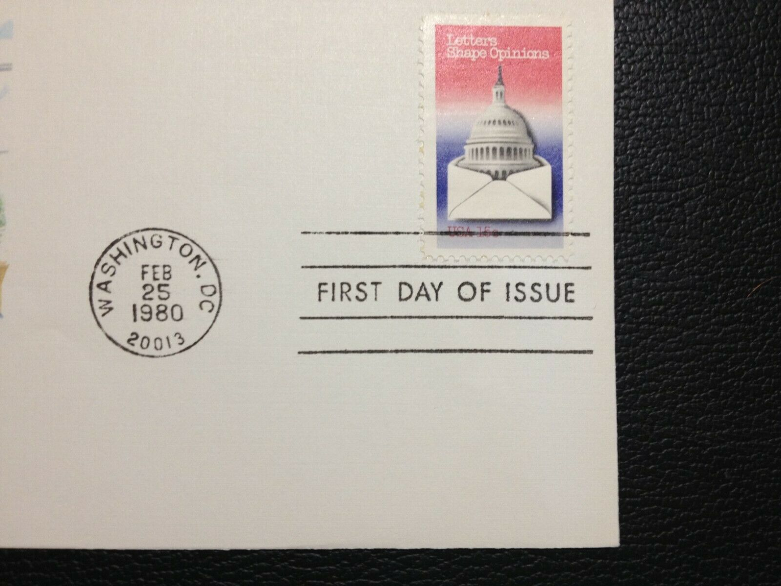1809 FDC 1980 Fleetwood 15c Letters Shape Opinions To My Congressman  - $0.99