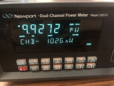 Newport 2832c Dual-channel Optical Power Meter Doubling 1830c Or 1835c