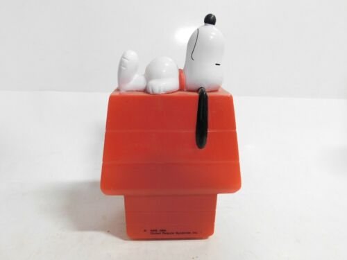 Vintage Advertising piggy bank (S21) - SNOOPY on his back on red DOG HOUSE