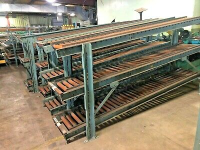 Used Hytrol 120l X 16w Gravity Conveyor Roller 1 Lot Of 3 Rollers W Stand