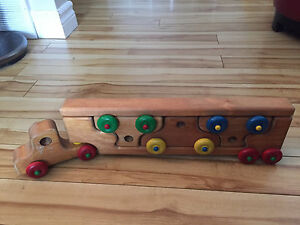 Wooden truck puzzle