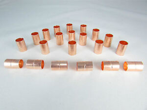 COPPER COUPLING WITH STOP SIZE 3/8