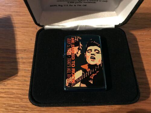 ZIPPO COLLECTOR LIGHTER - ELVIS PRESLEY He Darted To Rock 7/5/54 Thats all right