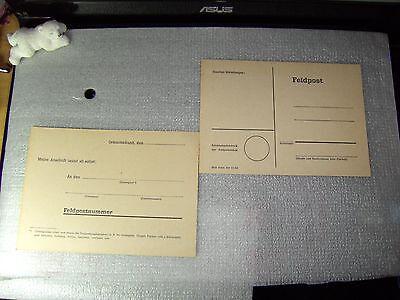 "2 frühe Bundeswehr Feldpostkarten  ""NEU""RARITÄT"""