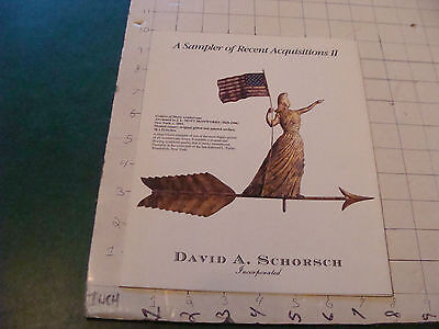 vintage booklet RECENT Acquisitions II--DAVID A SCHORSCH w LIBERTY WEATHERVANE