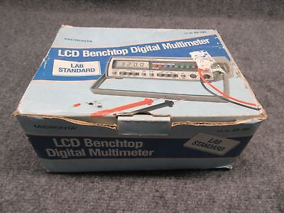 Micronta Model 22-195 Lcd Benchtop Digital Multimeter With Original Box Tested