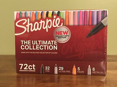 Sharpie 72-piece Ultimate Pack Fineultra Fine Point Assorted Colors