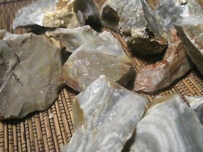 3 POUNDS!! USA Ozark CHERT FLINT LARGE PIECES rough stone rock PRIMITIVE FIRE