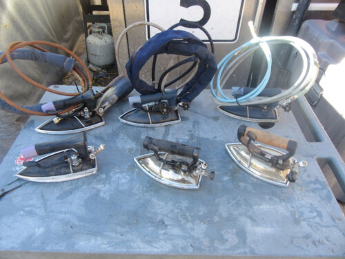 COMMERCIAL STEAM IRON ACE ECOSTEAM LOT OF 6 USED FREE SHIPPING!!!