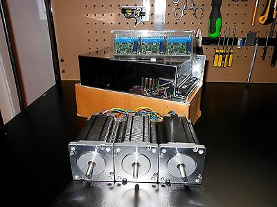 Gecko G251x 3 Drivers 48v 12.5a Power Supply 3 600oz In Dual Shaft Steppers