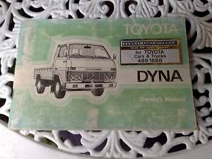 Toyota Dyna Owners Manual 5R B & H Petrol Diesel 1979-81 Narre Warren Casey Area Preview