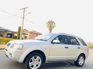 2004 Ford Territory Ghia Wagon 7seater Auto Long Rego Log Book Silver Moorebank Liverpool Area Preview