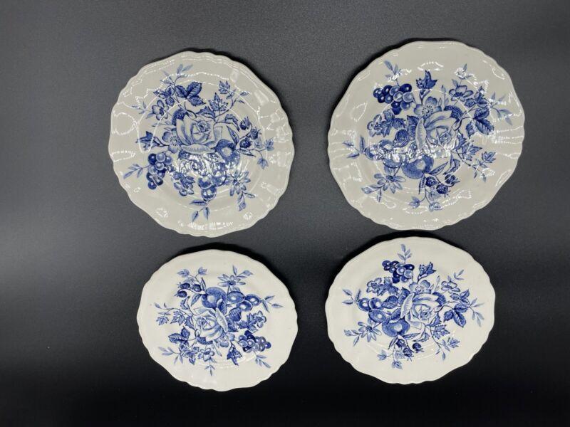 "Set Of 4 J & G Meakin Gainsborough 6""Salad Fruit Plates English Staffordshire"