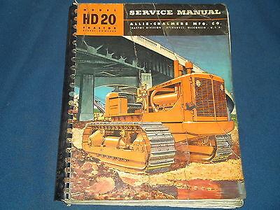 Allis Chalmers Hd20 Hd-20h Crawler Tractor Dozer Service Repair Shop Book Manual