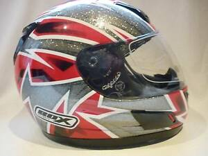"""Box"" Motorcycle Helmets Size: Large & Medium, Red Dagger. Prospect Launceston Area Preview"
