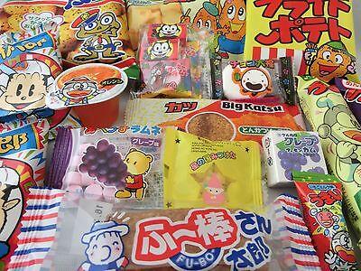 Japanese Food 20pcs Dagashi Okashi Candy Gum Snack Selection Set Free shipping