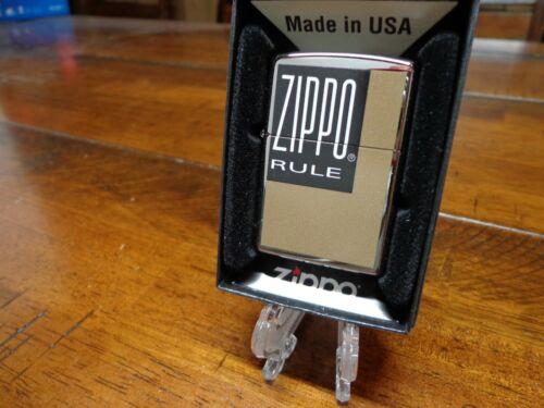 ZIPPO RULE BOX DESIGN ZIPPO LIGHTER MINT IN BOX
