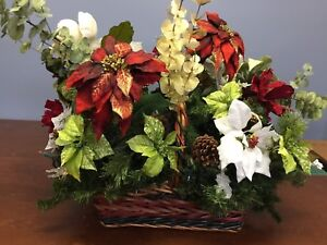 Christmas poinsettia comes with lights