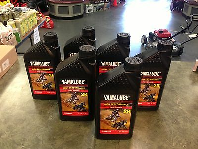 Yamalube Genuine Oil 6 Quarts 2R Two Stroke YZ 490 250 125 85 Blaster Banshee