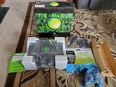 Microsoft Xbox Original Black Game Console New Open Box NOT SEALED CIB Complete