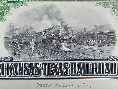 Missouri, Kansas & Texas Railroad Company, New York – von 1928 Dampflok Bahnhof