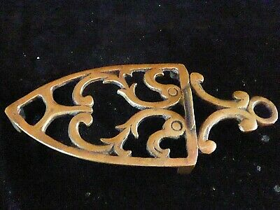 Antique Bronze Trivet Rococo / Scroll Design