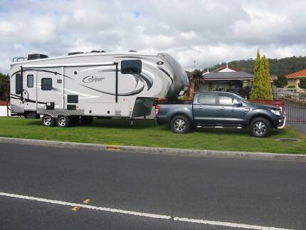 COUGAR 5TH WHEELER AND 2013 FORD RANGER Devonport Devonport Area Preview