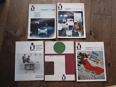 5x ILSE Möbel Solliger Kataloge 1967 - Kleinmöbel Nierentisch Servierwage