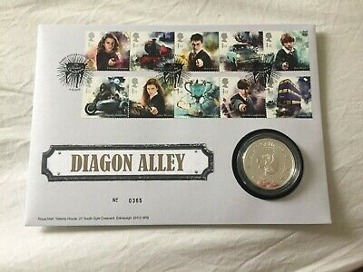Harry Potter™ Limited Edition Silver Proof Diagon Alley Medal Cover