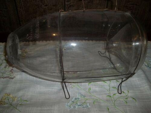 "Vintage Shakespeare Glass Minnow Trap - Kalamazoo Mich USA Pat Pending"""