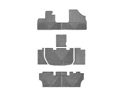 Weathertech All Weather Floor Mats For Honda Odyssey 2005 2010 1St 2Nd 3Rd Grey