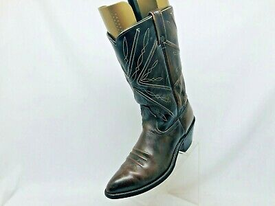 Acme Brown All Leather Cowboy Western Boots Mens Size 10 D Style 6066