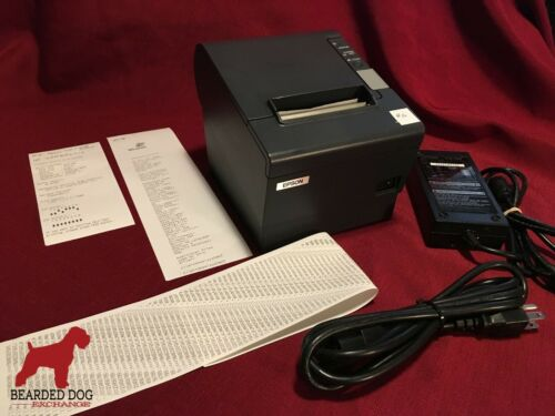 Epson TM-T88IV POS USB Thermal Receipt Printer M129H w/PS-180 power & USB cords