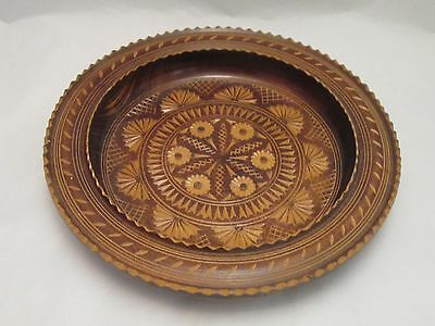 A Fine Carved Wooden Bowl - Fruit Bowl