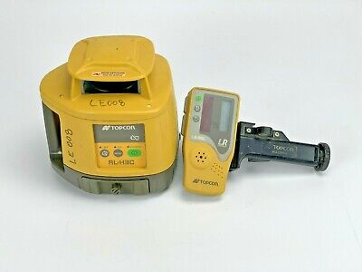 Topcon Rl-h3c Red Rotary Laser Level With Ls-80l Receiver Clamp